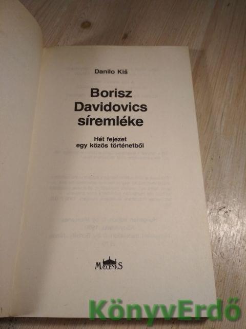 Danilo Kis: Borisz Davidovics síremléke