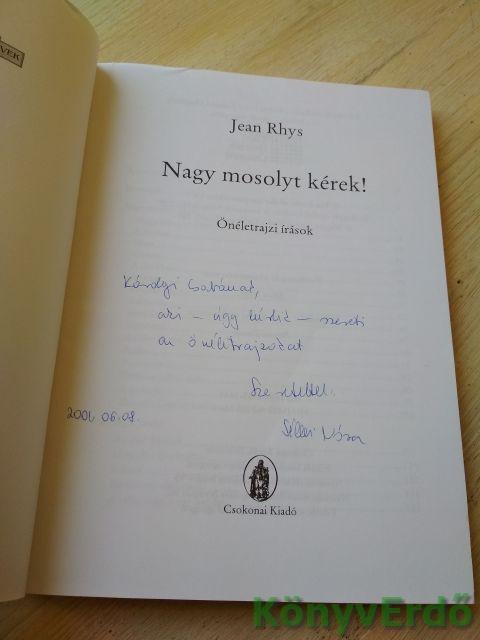Jean Rhys: Nagy mosolyt kérek!